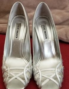 Silver shoes from Steve Madden